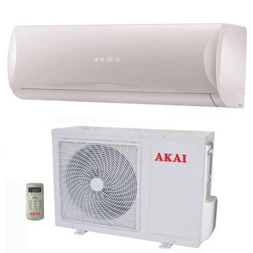 Climatizzatore inverter WI-FI Akai Mistral 12.000 btu monosplit, condizionatore wireless con telecomando e unità interna.