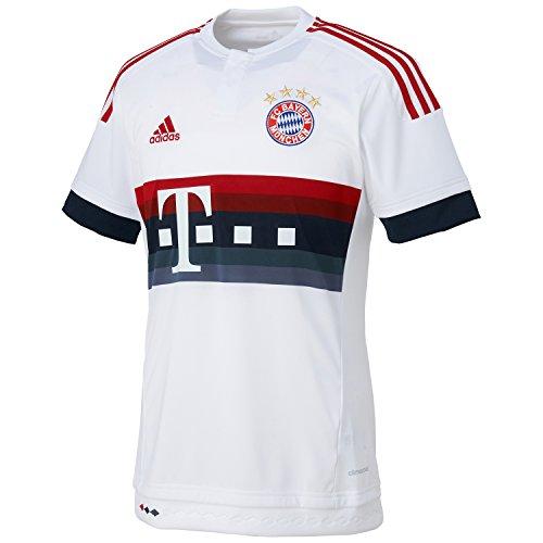adidas Trikot FC Bayern München Replica Spieler-Auswärtstrikot 2015/2026 Camiseta, Hombre, Blanco/Rojo/Azul Marino/Negro, 176