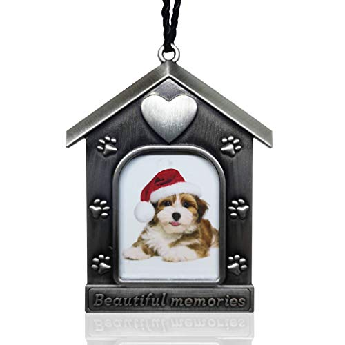 Orchid Valley Cat or Dog Picture Frame Ornament Remembrance Gift, Beautiful Memories Pet Sympathy Gift or Christmas Ornament That can be Personalized with a Photo. Loss of Pet Keepsake
