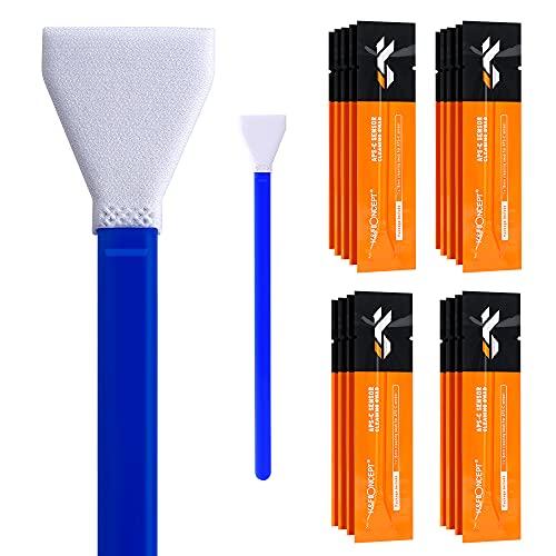 K&F Concept-Kit de Limpieza Sensor APS-C 16mm (20 Bastones/Envasados al Vacío, Pack Limpieza Camara Cleaning Kit para Objetivos/Canon/Sony/Nikon/Sony