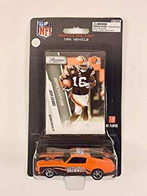 2010 PRESS PASS NFL Players REPLICA DIE CAST Car with Card 1:64 Scale Ford Mustang - Josh Cribbs CLEVELAND BROWNS
