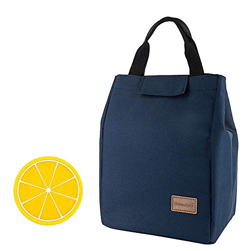 Lunch Bag Large Insulated Lunch Bags for Women Men Tote Bag Adult Lunch Box Organizer Holder Container (navy blue)