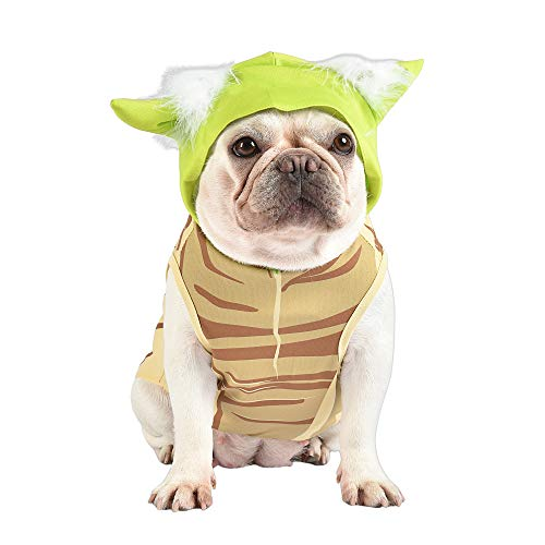 Star Wars Yoda Costume for Dogs, Medium (M) | Hooded and Comfortable Green Yoda Dog Costumes for All Dogs | Dog Halloween Star Wars Dog Costume for Medium Dogs | See Sizing Chart for More Info
