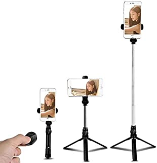 Bluetooth Selfie Stick 2 in 1 Extendable Wireless Remote Mini Pocket Selfie Stick Tripod for iPhone XS Max/XR/XS/X/8/7/6/P...