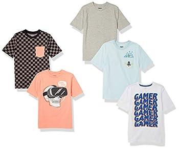 Spotted Zebra Boys  Short-Sleeve T-Shirts 5-Pack VR Gamer Large