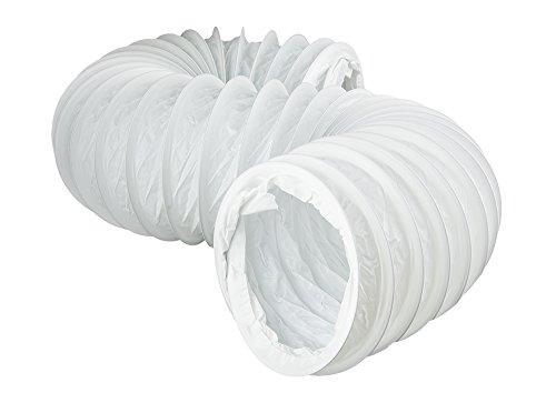 Rundrohrsystem PVC Lüftungsrohr Flexschaluch Bindeglieder Bogen Kniestück Verbinder Rückstauklappe T-Stück Reduktion Halter Adapter (Ø 150, Flexschaluch 3,0m)