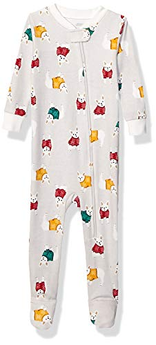 Amazon Essentials Baby and Toddler Zip-Front Footed Sleeper Infant Sleepers, Cozy Frenchies, 24 meses