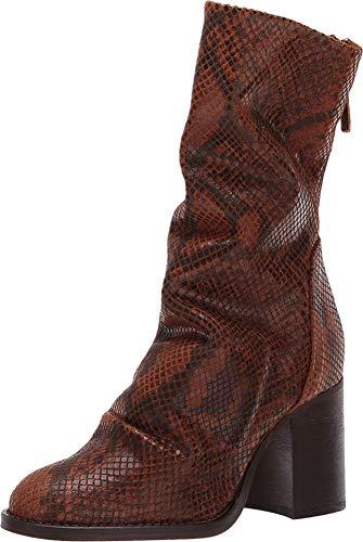 Free People Elle Block Heel Boot Brown Combo 41 (US Women's 11) M