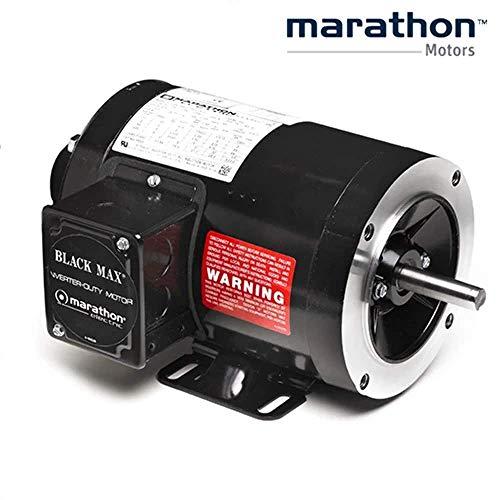 Marathon Electric Y555 - Vector Drive Motor - 3 ph, 1/2 hp, 1800 rpm, 575 V, 56C Frame, TENV Enclosure, 60 Hz