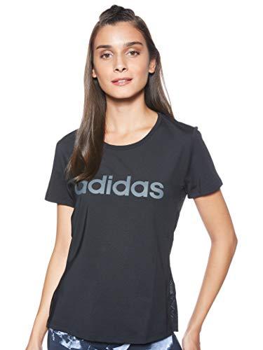 adidas Design 2 Move W TS Camiseta, Mujer, Negro (Black White), XS