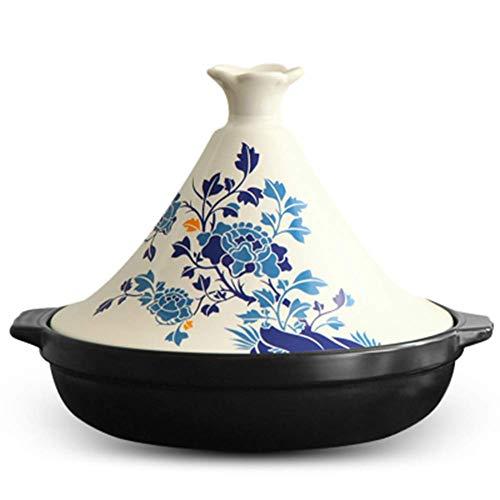 AXAA Handgemachter Topf Marokkanischer Exquisiter Keramiktopf Geeignet zum Kochen Kochtopf Slow Cooker 26cm Hitzebeständiger Auflauf