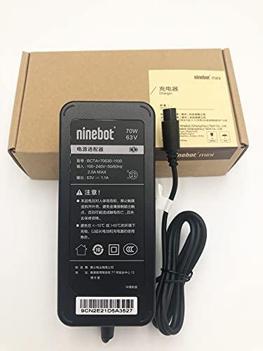 El cargador de 70 W, 63 V y 4 orificios es adecuado para el monociclo eléctrico Ninebot One A1 y el mini scooter eléctrico autoequilibrado Ninebot