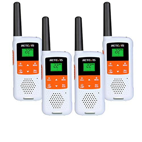 Retevis RT49B Walkie Talkies for Adults,Two Way Radios Long Range,License-Free 22 CH Two in One USB Charging, for Cruise Ship Hunting Travel Rowing(White,4 Pack)