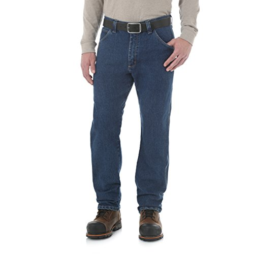 Wrangler Riggs Workwear Men's Advanced Comfort Five Pocket Jean, mid stone, 33x30 (Riggs Utility Jeans)