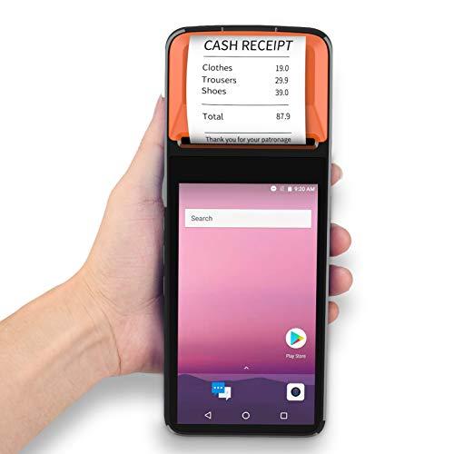 Montloxs Palmare Smart PDA Terminale POS Stampante per Ricevute Android 7.1 Supporto 4G WiFi BT GPS Funzione NFC Scanner di codici a barre 1D 2D con fotocamera touchscreen da 5,0 pollici