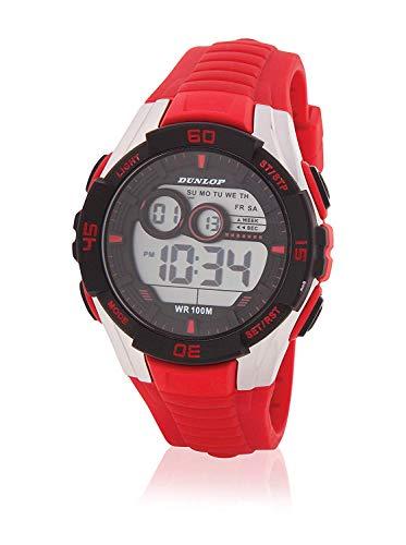 Dunlop Reloj Digital para Unisex Adultos de Cuarzo con Correa en Caucho DUN233G07