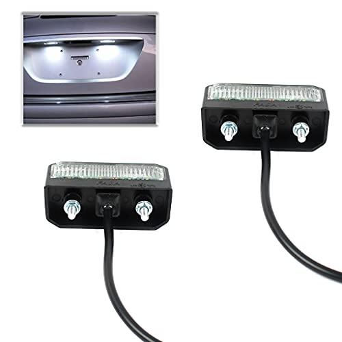 MaxAwe 2 Stk LED Kennzeichenbeleuchtung, Hinten Kennzeichenleuchten 12~24V Wasserdicht Nummernschildbeleuchtung Perfekt Für Anhänger, PKW, LKW, Motorrad Oder Boot