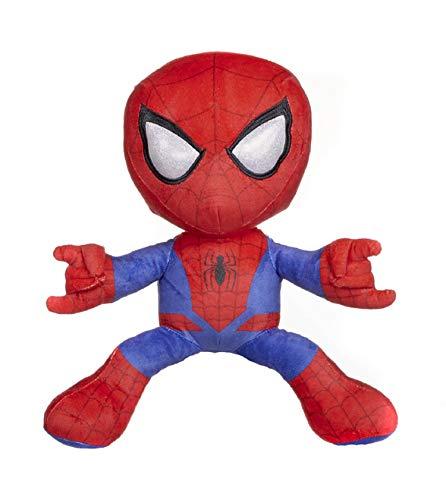 """Marvel - Peluches Spiderman, 5 modelos de poses diferentes, 30cm (12""""), Licencia Oficial (Spiderman Lanza Telaraña Rojo)"""
