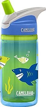 CamelBak Kids Eddy Insulated Water Bottle Blue Sharks 12oz