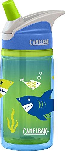 CamelBak Kids Eddy Insulated Water Bottle, Blue Sharks, 12oz