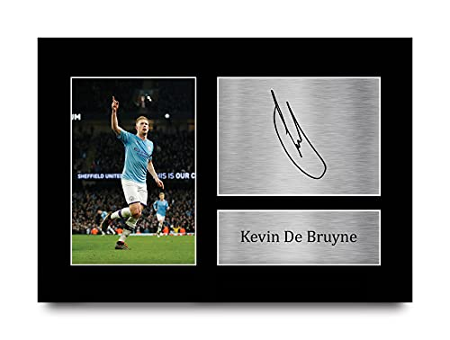 HWC Trading Kevin De Bruyne Printed A4 Signed Autograph Manchester City Print Picture Beeldscherm