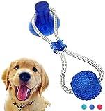 WYB Juguete de mordida Molar Duradero para Perros, Juguete de Bola de Cuerda con tirn para Perro con Ventosa, Tirn, Jalar, Masticar, Jugar, Elasticidad, Azul