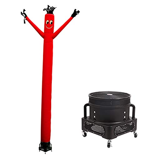 MOUNTO 20ft Air Inflatable Tube Guy Puppet Dancing Man with 1HP Blower Complete Set (Red)