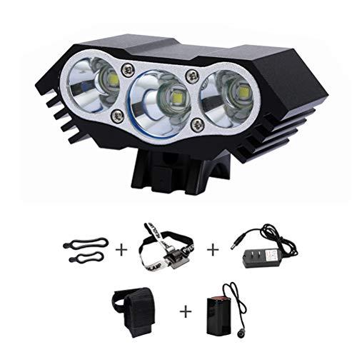 Bestice 5000/6600 lm U2 XML 2/3 CREE LED Mountainbike Licht Frontlicht Fahrradlampe Stirnlampe Scheinwerfer Wiederaufladbare Scheinwerfer Taschenlampe mit 2 x 18650 wasserdichtem Akku Rücklicht