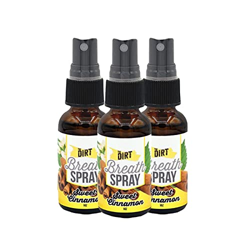 The Dirt Mouth Refresher - Alcohol & Sugar-free Spray for Bad Breath with Essential MCT Coconut Oil...