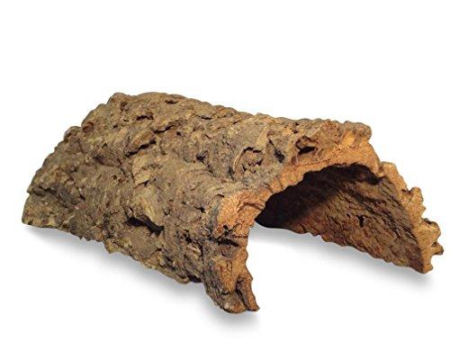 Korktunnel | Korkhöhle (Halbbogen) unten offen, 30 cm, Innenhöhe ≤ 11 cm | gereinigt & desinfiziert | Naturkorkrinde als Unterschlupf für Nagetiere, Reptilien, Vögel 100% Korkrinde, natürlicher, nachwachsender Rohstoff