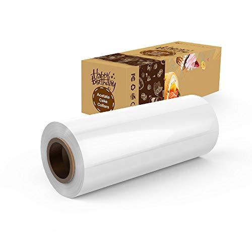 Acetate Cake Collar,LONGMADA Collars Sheets (6 Inch 32.8 Feet) Transparent Chocolate Mousse Collar Baking Surrounding Edge Decorating Acetate Roll