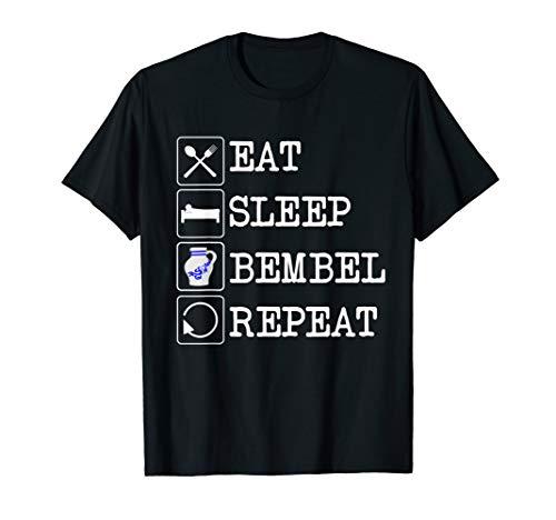 Eat Sleep Bembel T-Shirt | Apfelwein T Shirt Geschenk Hessen T-Shirt