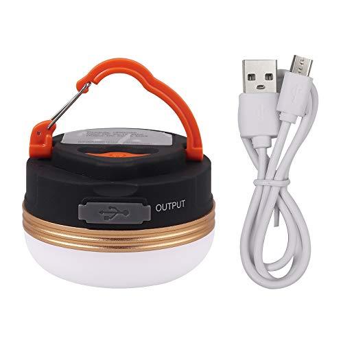 Justech Lámpara Camping Recargable USB con 4 Modos Linterna de Camping LED Portátil con Magnética IP65 Impermeable 1800mAh para Senderismo, Camping, Luces de Emergencia