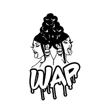 WAP Hiphop Girls Decal Vinyl Sticker Cars Trucks Vans Walls Laptop Black  5.5 x 3.2 in DUC1658