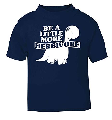 Flox Creative T-Shirt bébé Little More Herbivore Dinosaure Noir Nouveau-né - Bleu - 2 Ans