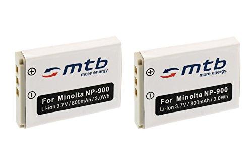2X Baterías NP-900 para Konica Minolta Dimage E40, E50