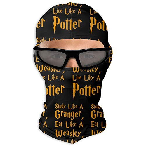 Winter Women Mens Balaclava Ski Mask.- Wind-Resistant Thermal Skullies Beanies Hat Scarf Polyester Neck Gaiter Protection for Motorcycle Cycling,Study Like A Granger Eat Like A Weasley