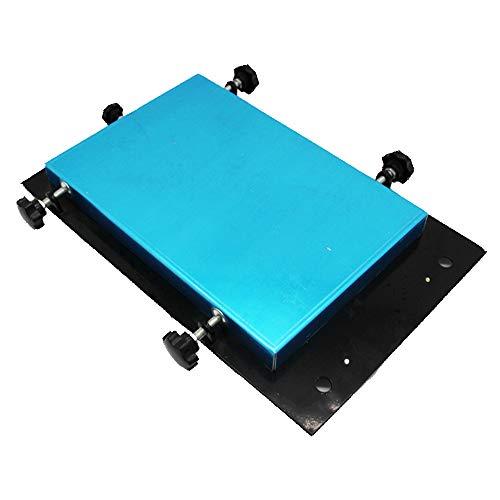 NOBGP Pequeña estación de serigrafía Manual, Impresora de Plantillas SMT Estación de Estampado Manual Máquina de serigrafía en Pasta de Soldadura Máquina de serigrafía, para serigrafía