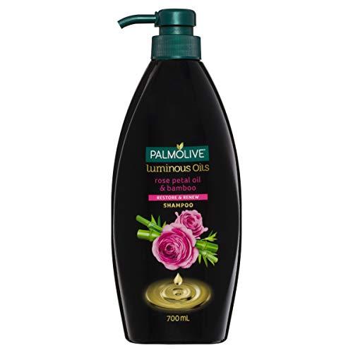Palmolive Luminous Oils Hair Shampoo Rose Petal Oil and Bamboo Restore and Renew, 700mL