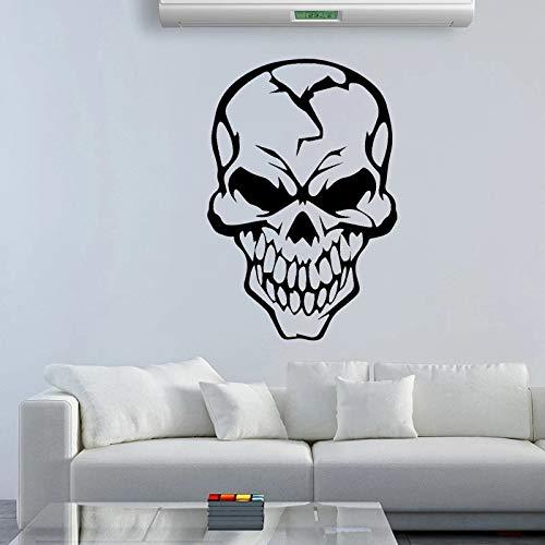 Etiqueta engomada de la pared del partido de la familia del mural tallado del cráneo