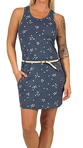Ragwear Damen Kesy Jerseykleid blau S
