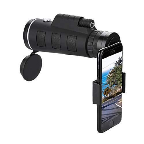 QUICKLYLY Telescopio Monocular HD 40X60 con Enfoque Dual Zoom óPtico Impermeable Visión Lente del De La CáMara Decon El Clip para iPhone TeléFono Universales
