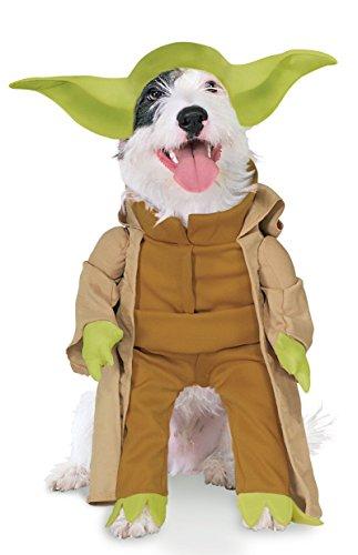 Star Wars - Disfraz de Yoda Deluxe para mascota, Talla M perro (Rubie's 887893-M)