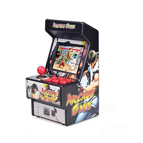 T-XYD Consola de Juegos Retro Mini Arcade Máquina de Juego Recargable de Mano 16 bits 156 Juegos clásicos Donkey Kong Galaga para niños 80s 90s 1-2 Jugadores,Negro