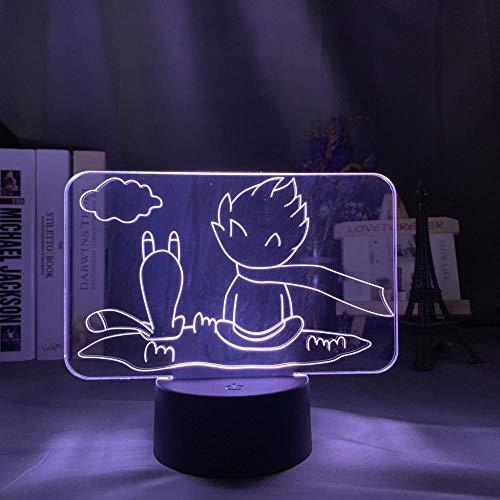 3D Illusion Lampe Led Nachtlicht Acryl Der Kleine Prinz Für Heimdekoration Bunt Für Kinderzimmer Dekor Usb Batterie Tischlampe Hauptdekoration Kinderschlaflampe