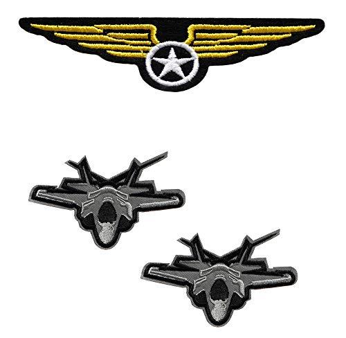 lo 3 ecusson Aile Avion aviateur us air Force Pilote Top Gun USA aviateur thermocollant
