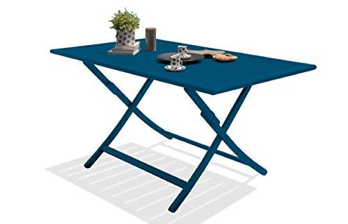 DCB GARDEN Marius Table de Jardin, Bleu