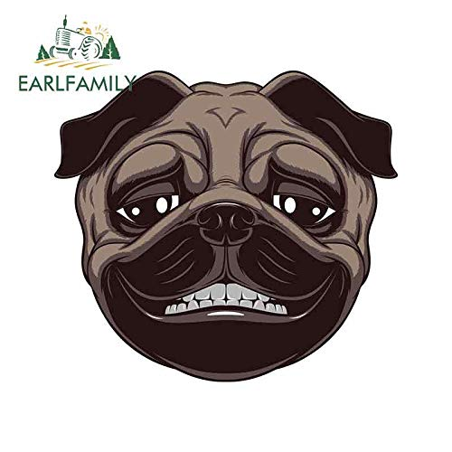Car sticker 13cm x 11.9cm For Smiling Dog Occlusion Scratch Car Stickers Waterproof Decal Repair Vinyl Material For JDM SUV RV