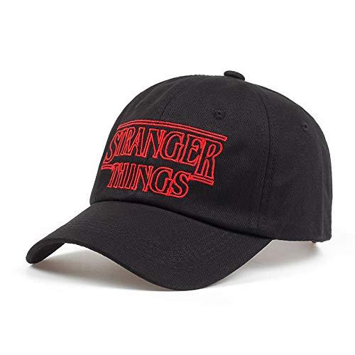 AIMICONG Cappello Stranger Things Berretti da Baseball in Cotone Cappelli Cappelli da papà Neri Cappelli da Golf ShapbackRegolabiliCappello C