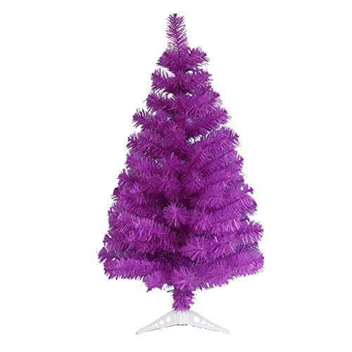 LIUSHI Artificial Holiday Christmas Pine Tree with Base Purple Christmas Tree for Home, Office, Party Decoration, Festive Holiday Decoration (Size : 3ft/90cm)